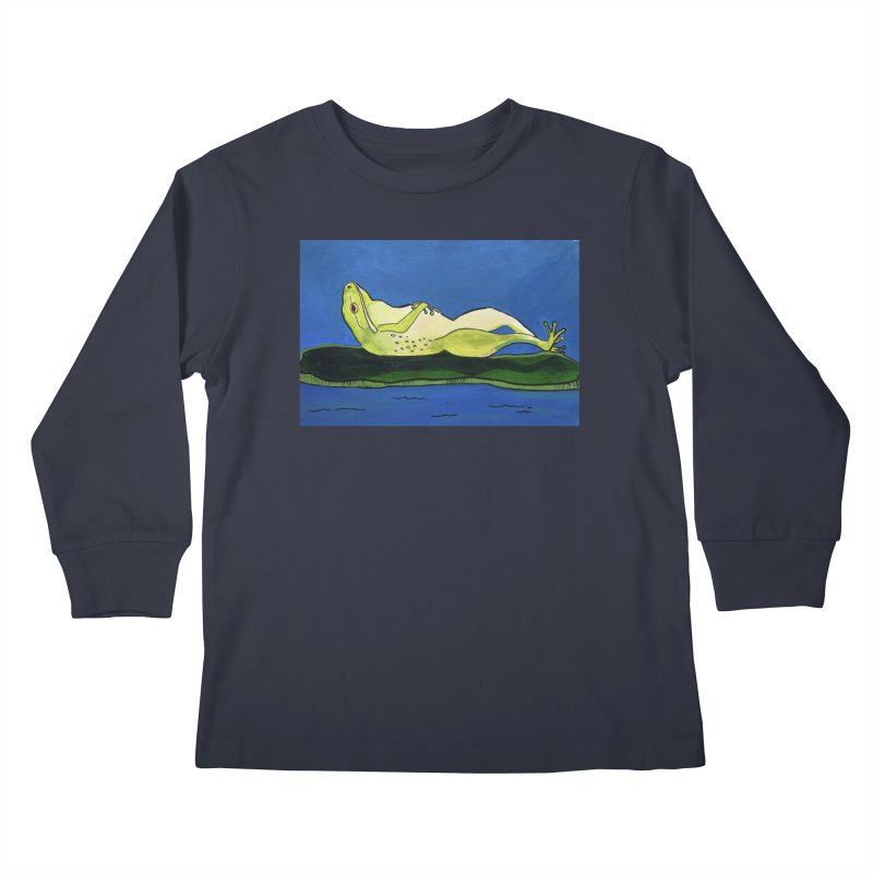 Rest Kids Longsleeve T-Shirt by Art by Roger Hutchison