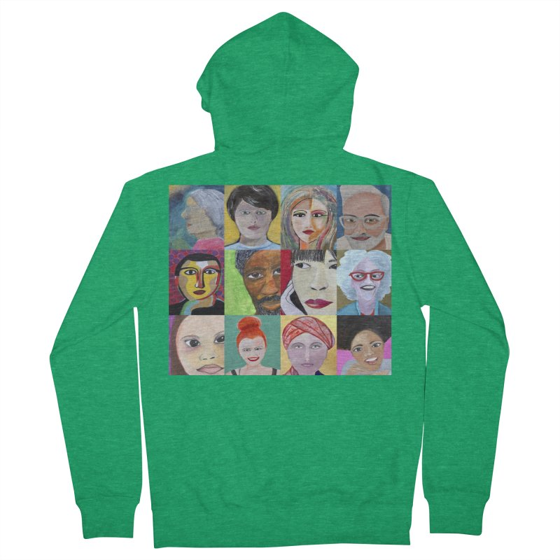 Faces: A Love Story Women's Zip-Up Hoody by Art by Roger Hutchison