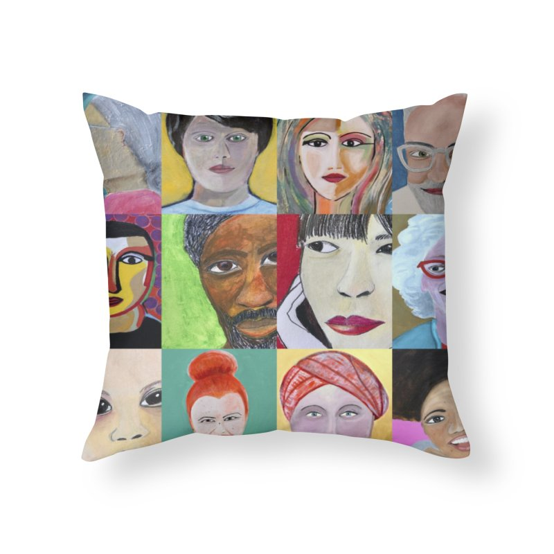 Faces: A Love Story Home Throw Pillow by Art by Roger Hutchison