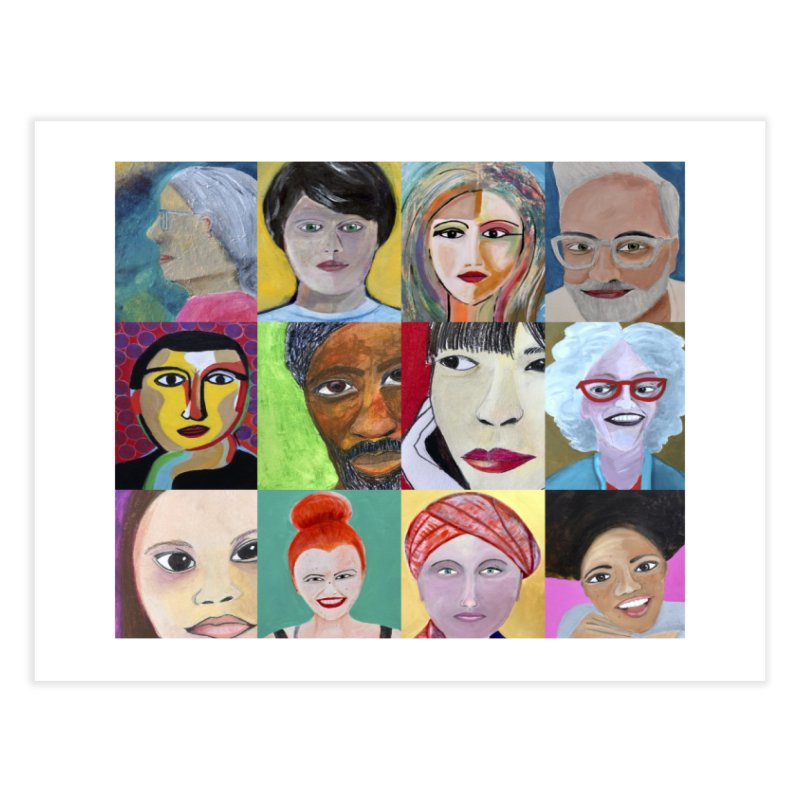 Faces: A Love Story Home Fine Art Print by Art by Roger Hutchison