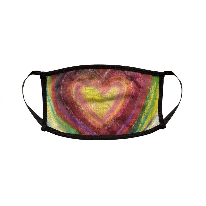 Love Accessories Face Mask by Art by Roger Hutchison
