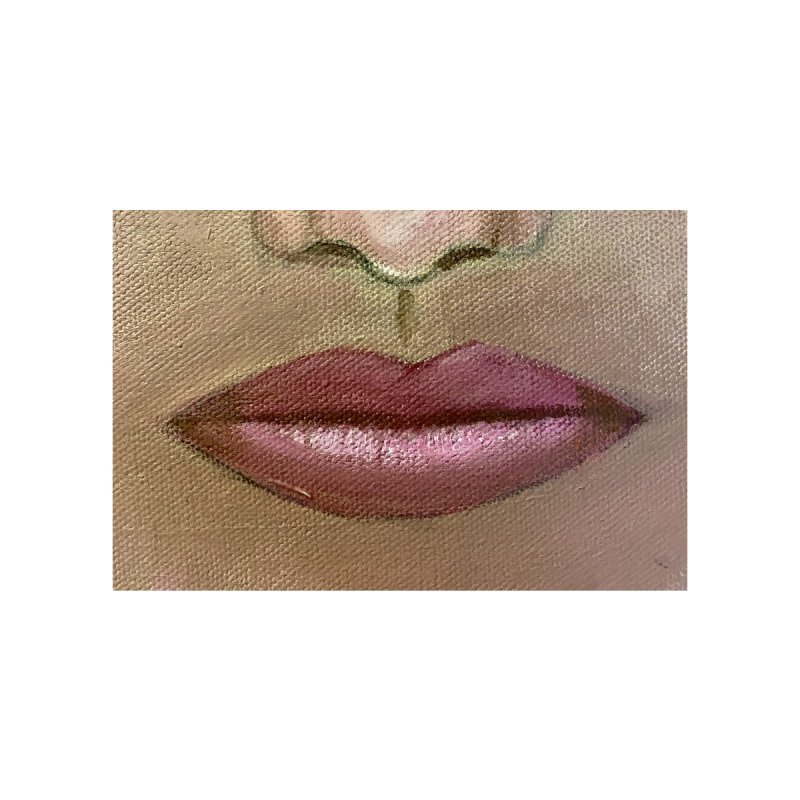 Lips Accessories Face Mask by Art by Roger Hutchison