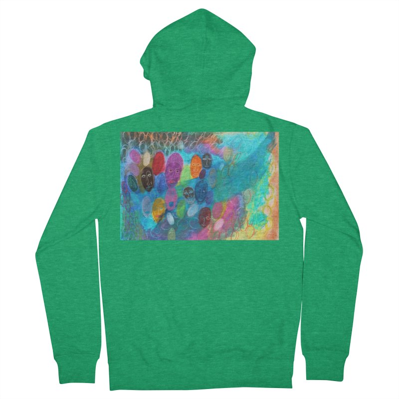 Made in God's Image Men's Zip-Up Hoody by Art by Roger Hutchison