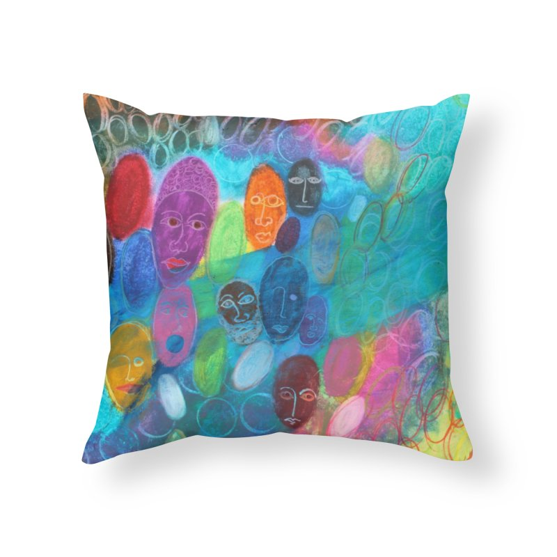 Made in God's Image Home Throw Pillow by Art by Roger Hutchison