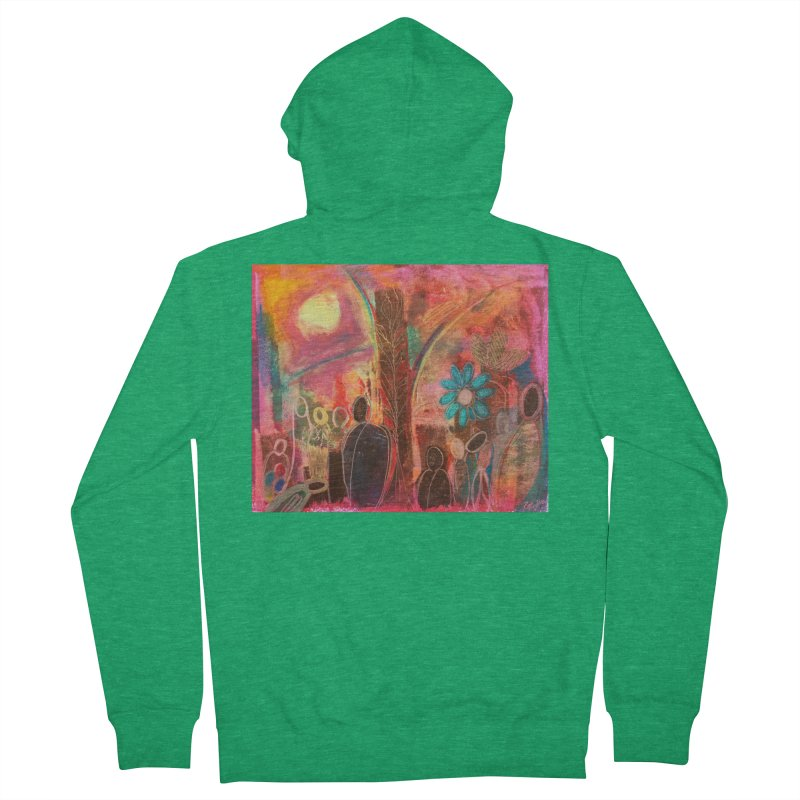 A Beautiful World Women's Zip-Up Hoody by Art by Roger Hutchison