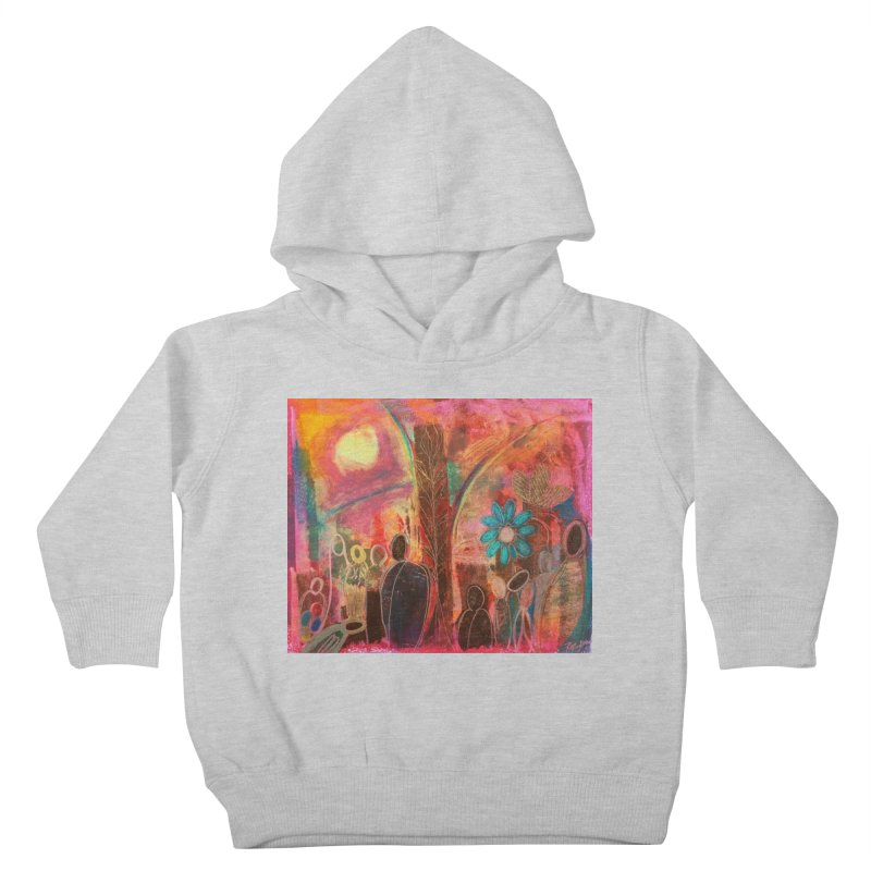 A Beautiful World Kids Toddler Pullover Hoody by Art by Roger Hutchison
