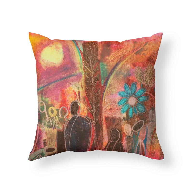 A Beautiful World Home Throw Pillow by Art by Roger Hutchison
