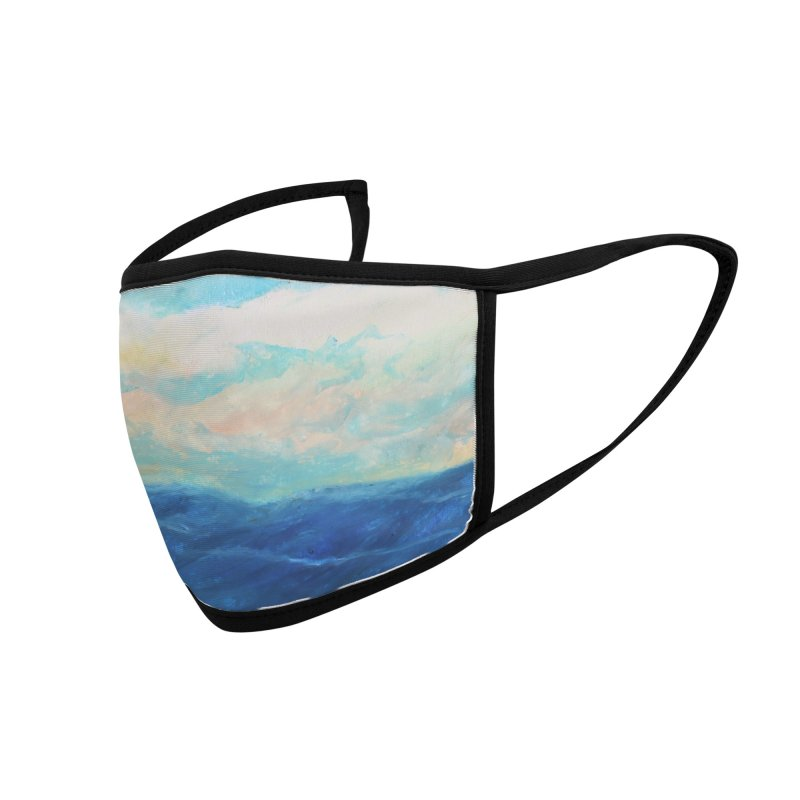 Thinking About The Sea Accessories Face Mask by Art by Roger Hutchison