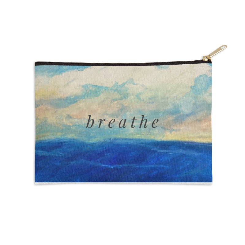 Breathe Accessories Zip Pouch by Art by Roger Hutchison