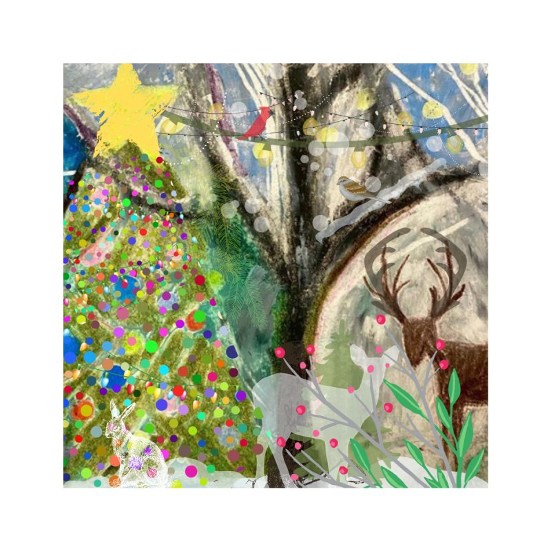 Woodland Christmas Accessories Mug by Art by Roger Hutchison