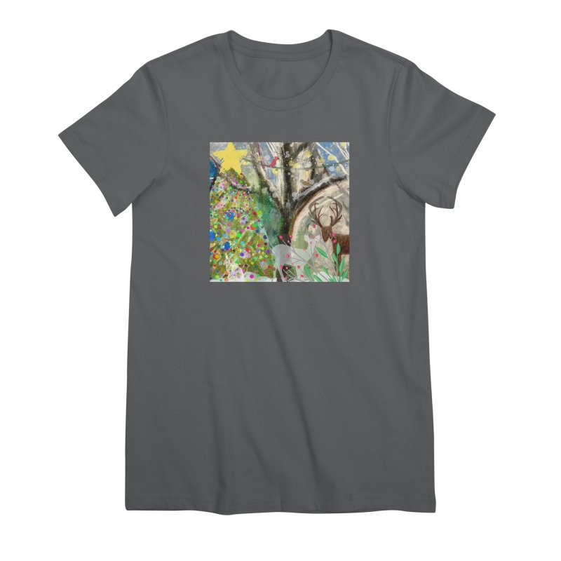 Woodland Christmas Women's T-Shirt by Art by Roger Hutchison