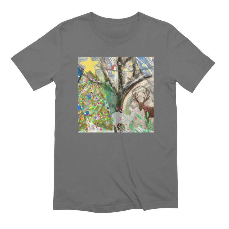 Woodland Christmas Men's T-Shirt by Art by Roger Hutchison
