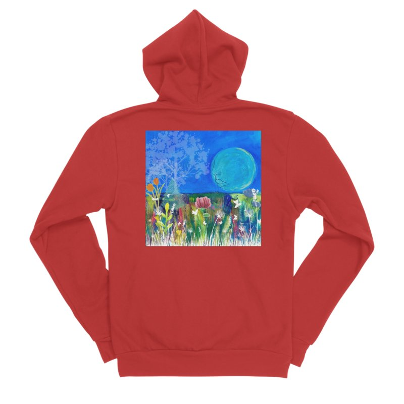 Beneath the Moon Women's Zip-Up Hoody by Art by Roger Hutchison