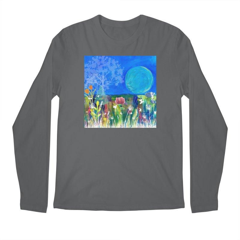 Beneath the Moon Men's Longsleeve T-Shirt by Art by Roger Hutchison