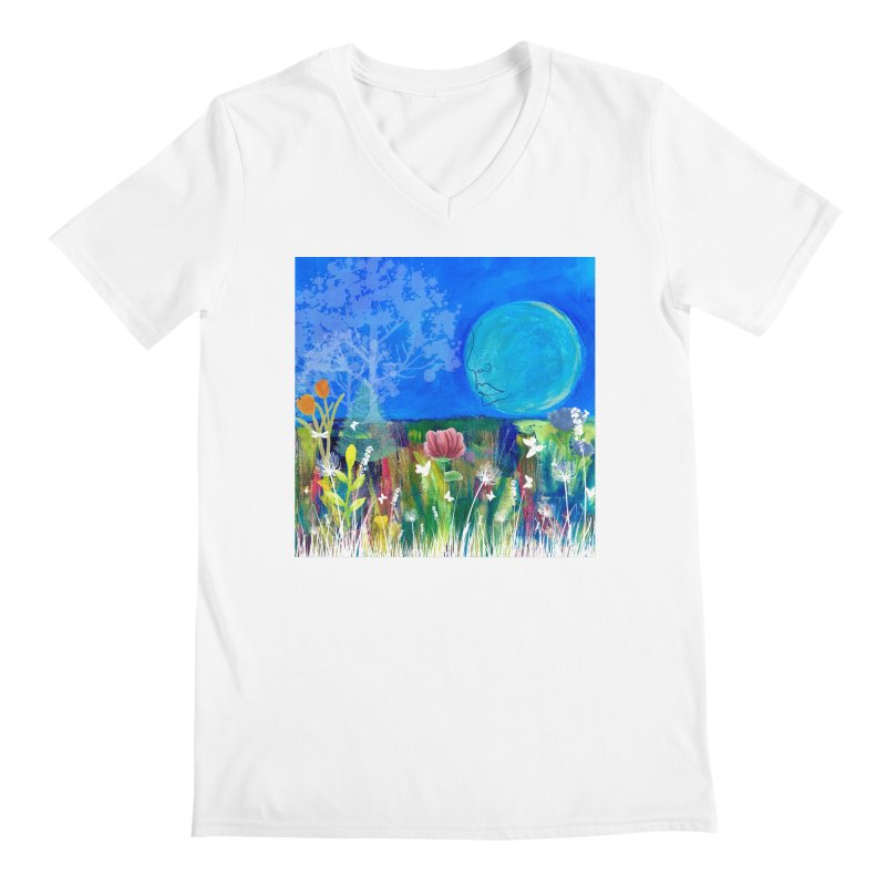 Beneath the Moon Men's V-Neck by Art by Roger Hutchison