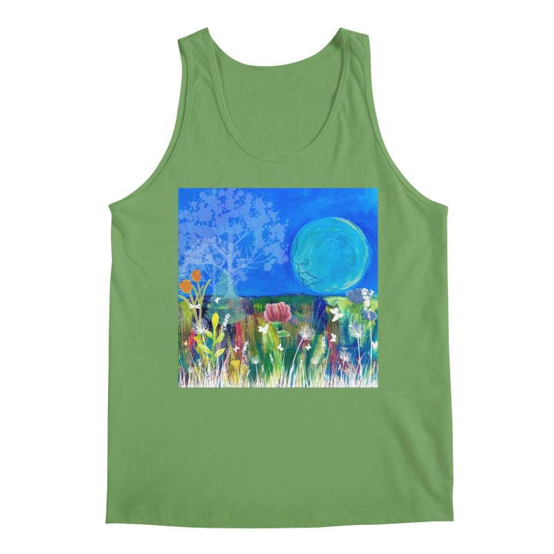 Beneath the Moon Men's Tank by Art by Roger Hutchison
