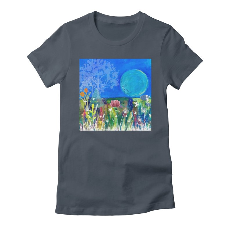 Beneath the Moon Women's T-Shirt by Art by Roger Hutchison