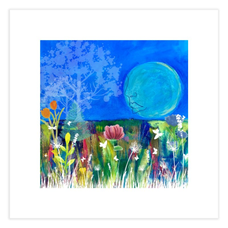 Beneath the Moon Home Fine Art Print by Art by Roger Hutchison