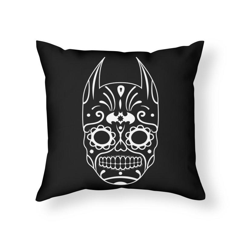 BatiKatrina White Home Throw Pillow by RojoSalgado's Artist Shop