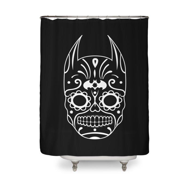 BatiKatrina White Home Shower Curtain by RojoSalgado's Artist Shop