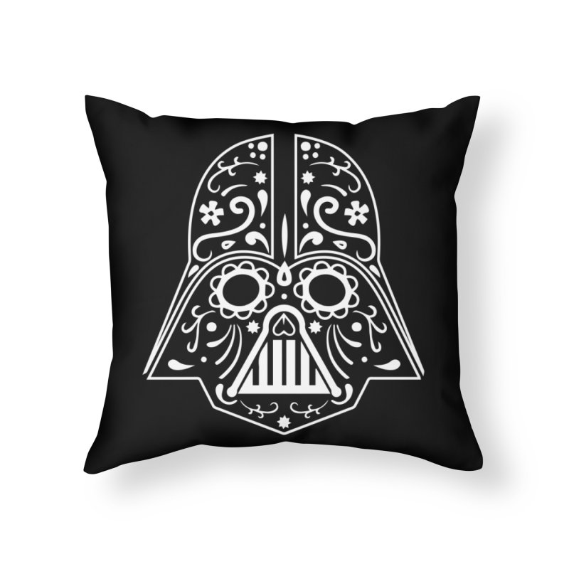 Catrina Vader White Home Throw Pillow by RojoSalgado's Artist Shop