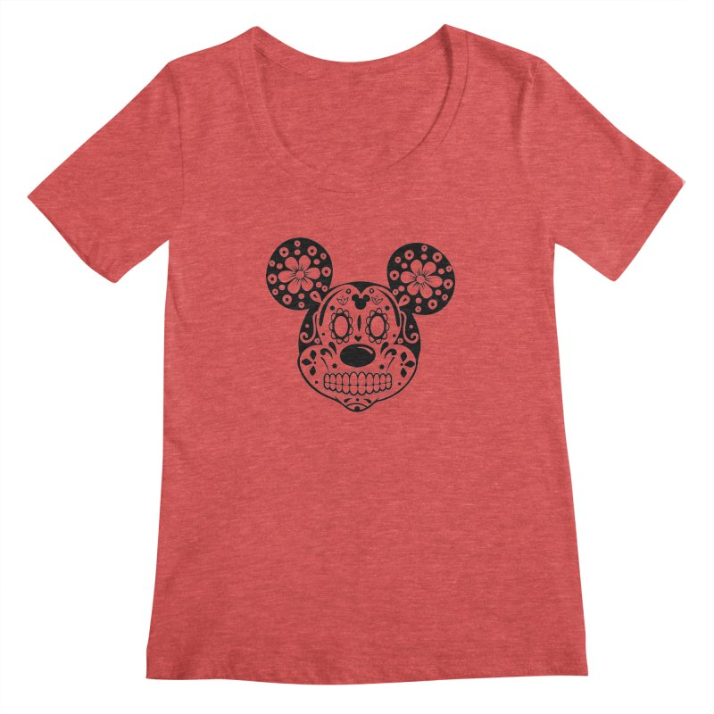 Mikatrina Mouse Women's Scoopneck by RojoSalgado's Artist Shop