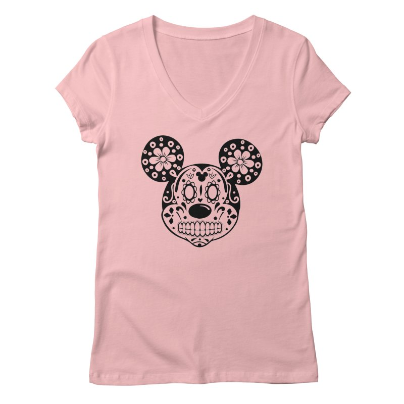 Mikatrina Mouse Women's V-Neck by RojoSalgado's Artist Shop