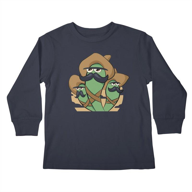 Chiles Revolucionarios Kids Longsleeve T-Shirt by RojoSalgado's Artist Shop