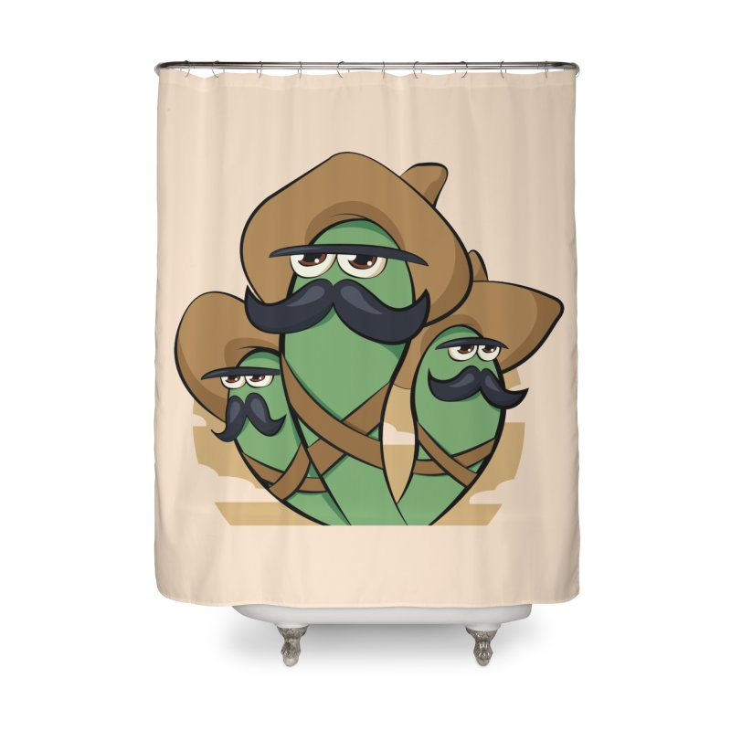 Chiles Revolucionarios Home Shower Curtain by RojoSalgado's Artist Shop