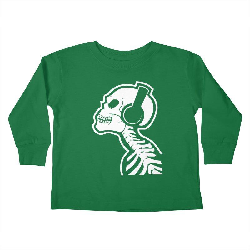 Music To The Bones Kids Toddler Longsleeve T-Shirt by RojoSalgado's Artist Shop