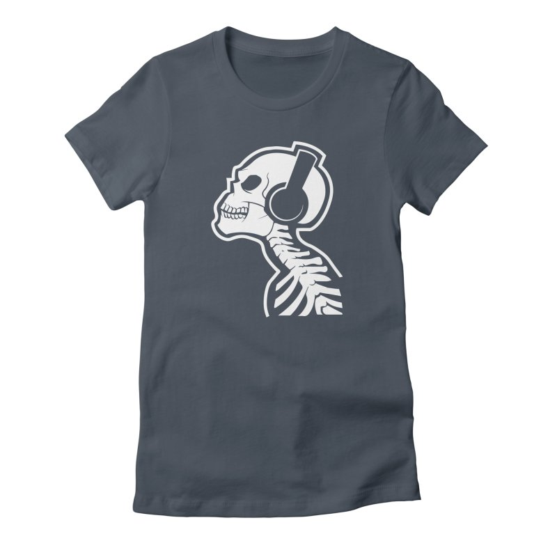 Music To The Bones Women's Fitted T-Shirt by RojoSalgado's Artist Shop