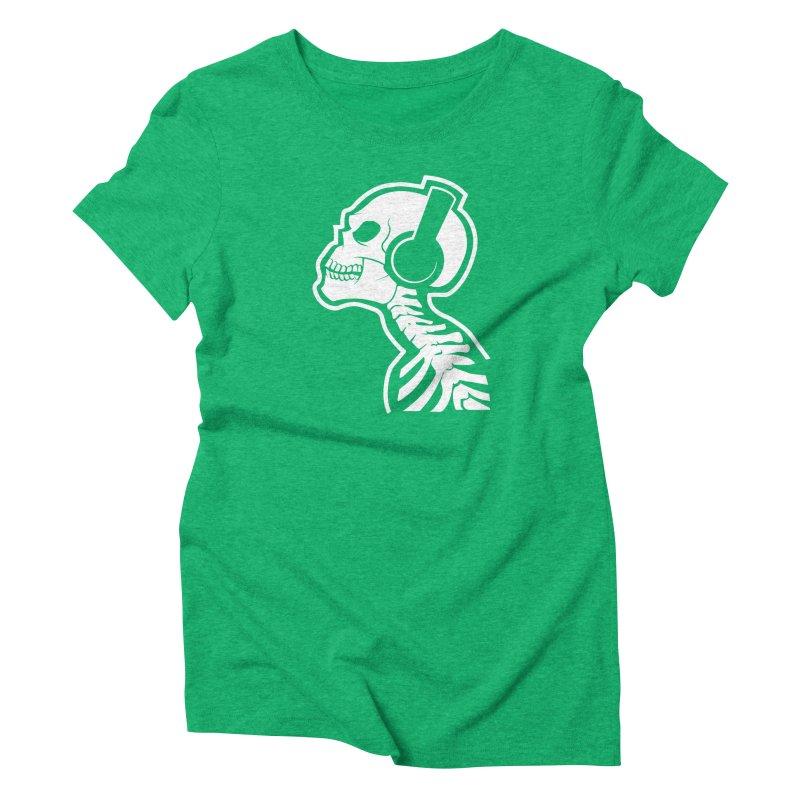 Music To The Bones Women's Triblend T-shirt by RojoSalgado's Artist Shop
