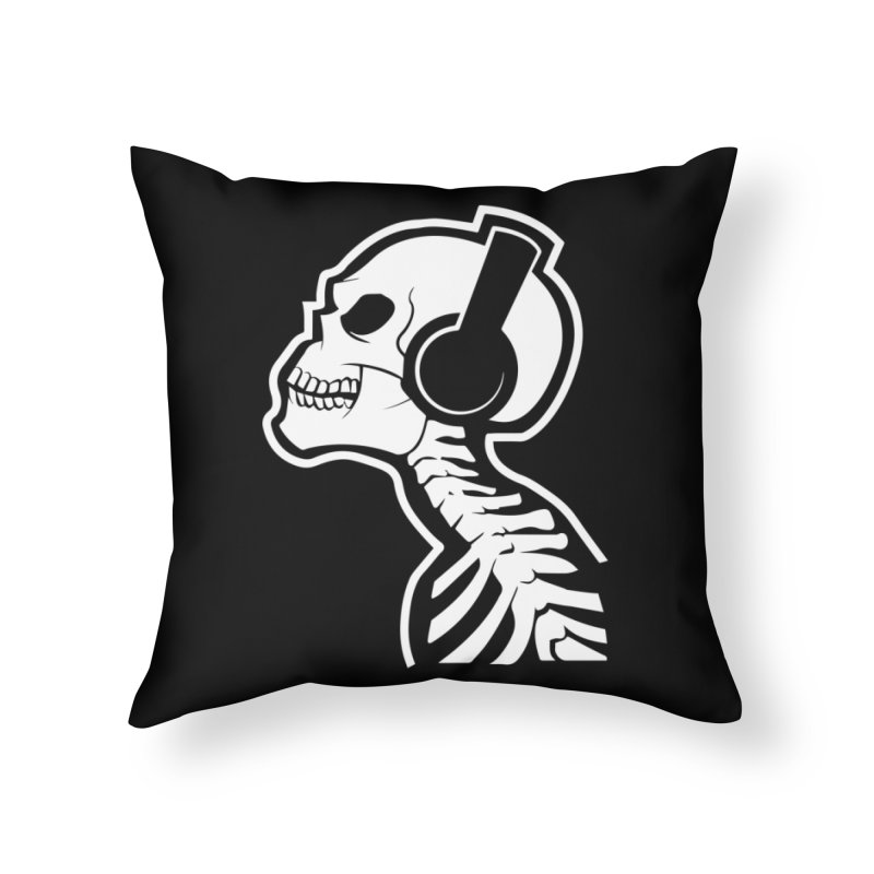 Music To The Bones Home Throw Pillow by RojoSalgado's Artist Shop