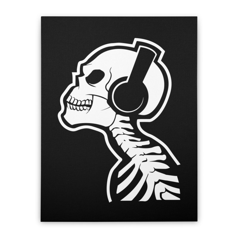Music To The Bones Home Stretched Canvas by RojoSalgado's Artist Shop