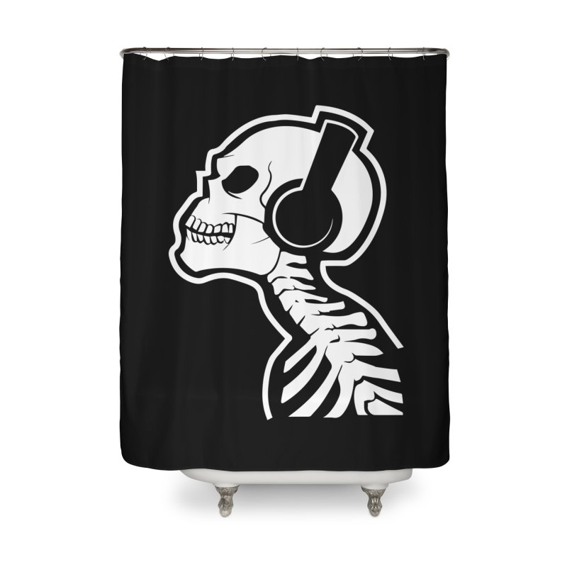 Music To The Bones Home Shower Curtain by RojoSalgado's Artist Shop
