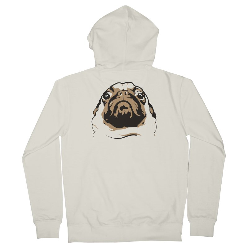 Pug My Life Men's Zip-Up Hoody by RojoSalgado's Artist Shop