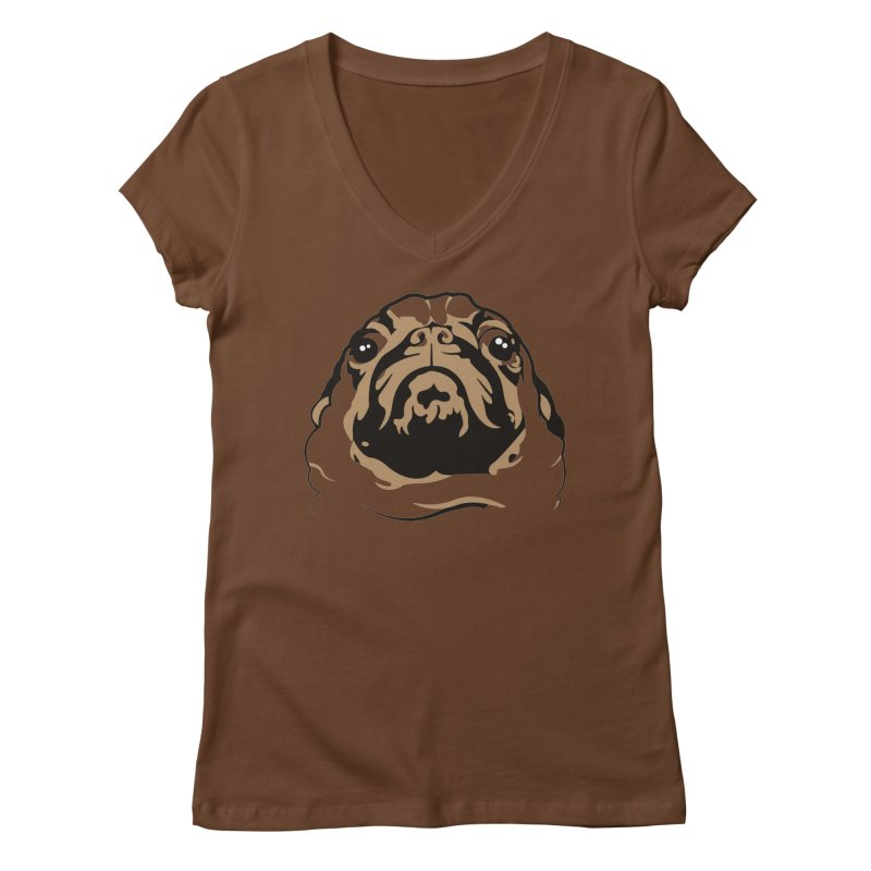 Pug My Life Women's V-Neck by RojoSalgado's Artist Shop