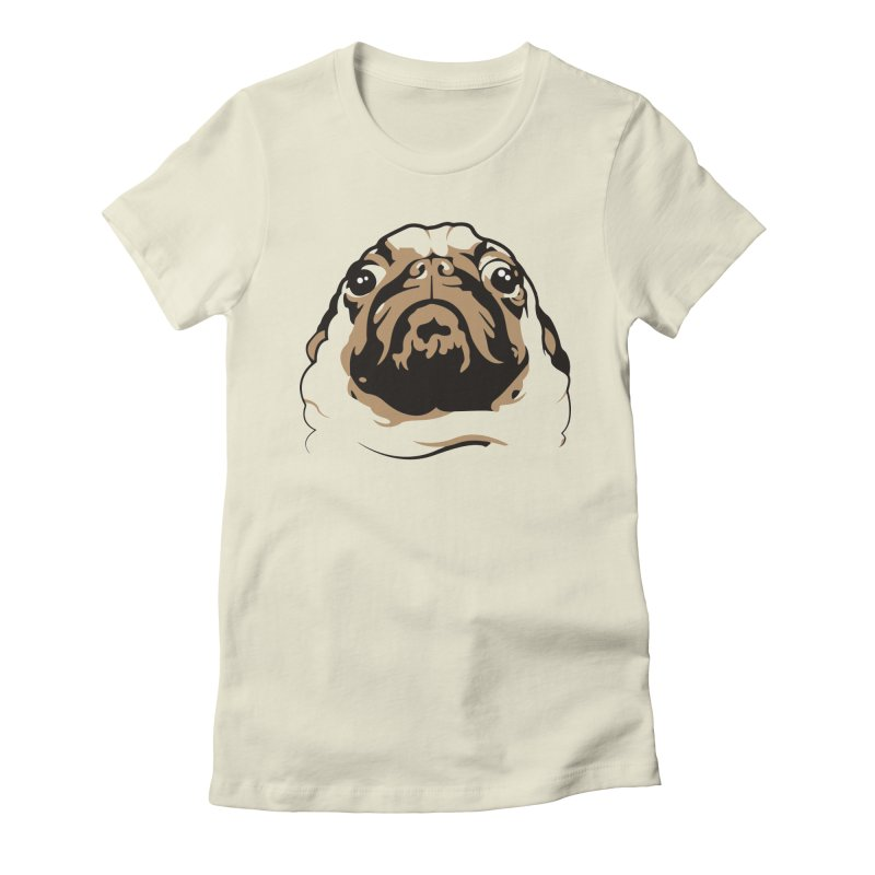 Pug My Life Women's Fitted T-Shirt by RojoSalgado's Artist Shop