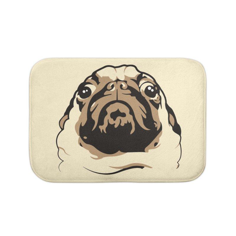 Pug My Life Home Bath Mat by RojoSalgado's Artist Shop