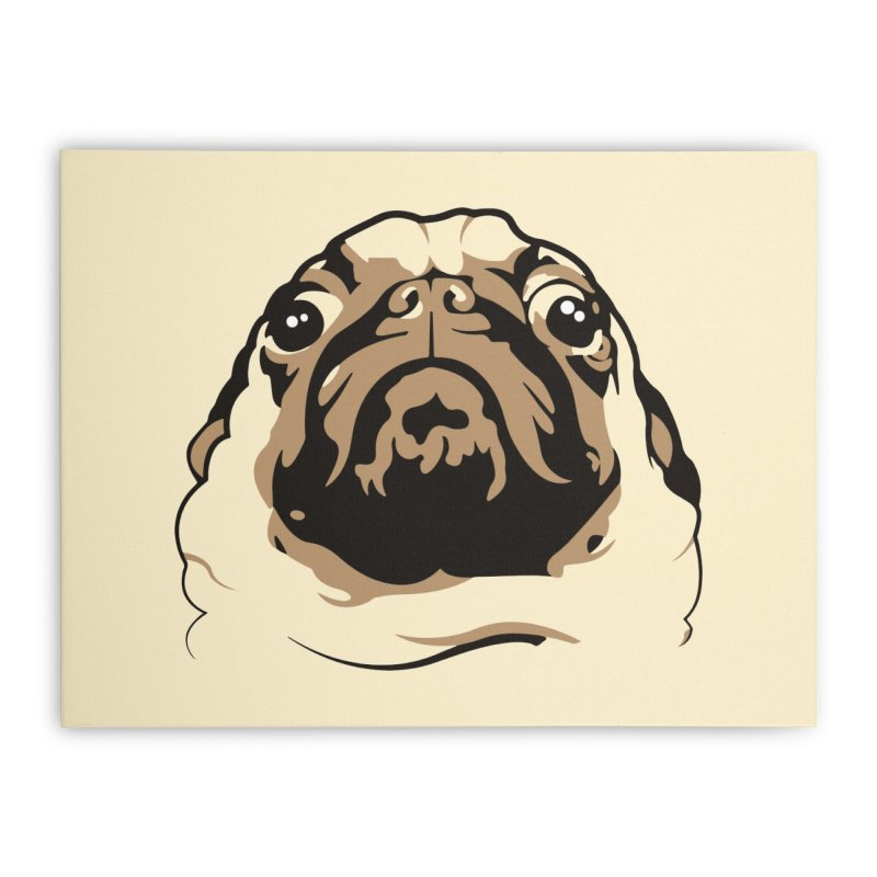 Pug My Life Home Stretched Canvas by RojoSalgado's Artist Shop