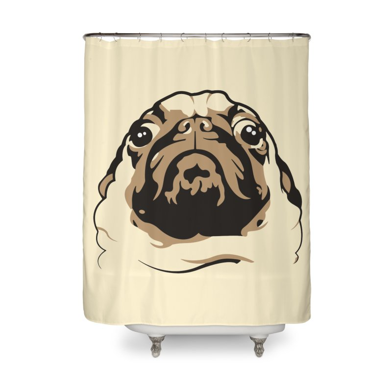 Pug My Life Home Shower Curtain by RojoSalgado's Artist Shop