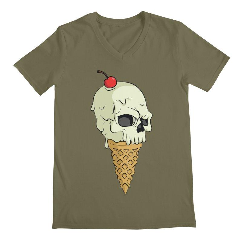 Death Dessert Men's V-Neck by RojoSalgado's Artist Shop