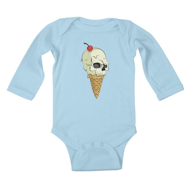 Death Dessert Kids Baby Longsleeve Bodysuit by RojoSalgado's Artist Shop