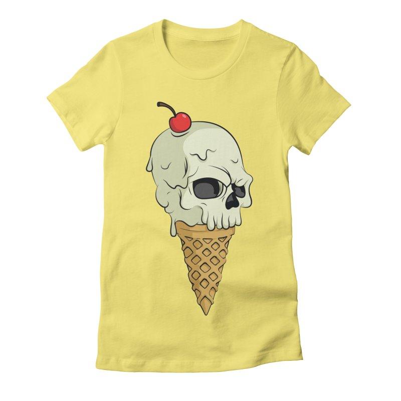 Death Dessert Women's Fitted T-Shirt by RojoSalgado's Artist Shop