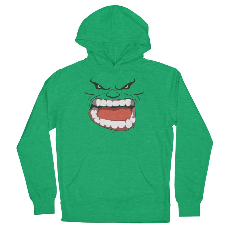 Green and angry Women's Pullover Hoody by RojoSalgado's Artist Shop