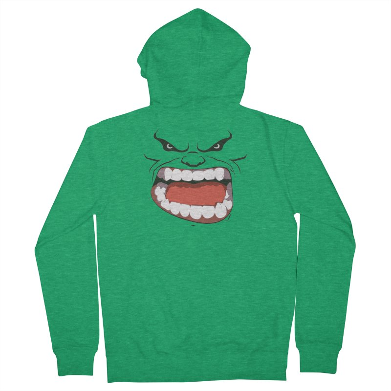 Green and angry Men's Zip-Up Hoody by RojoSalgado's Artist Shop