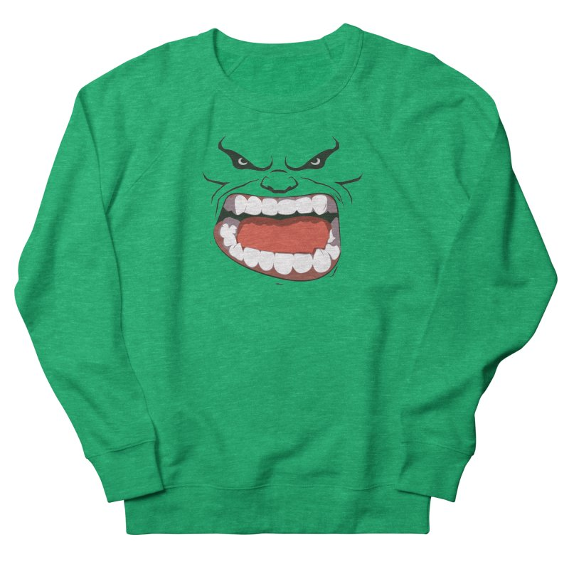 Green and angry Women's Sweatshirt by RojoSalgado's Artist Shop