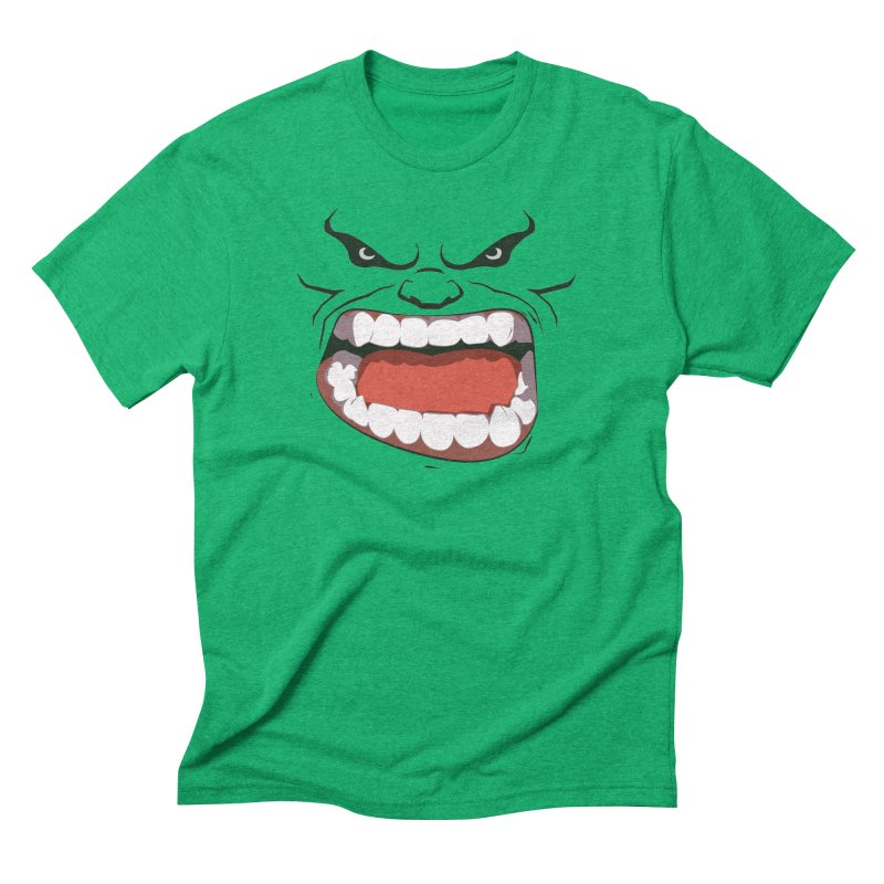 Green and angry Men's Triblend T-shirt by RojoSalgado's Artist Shop