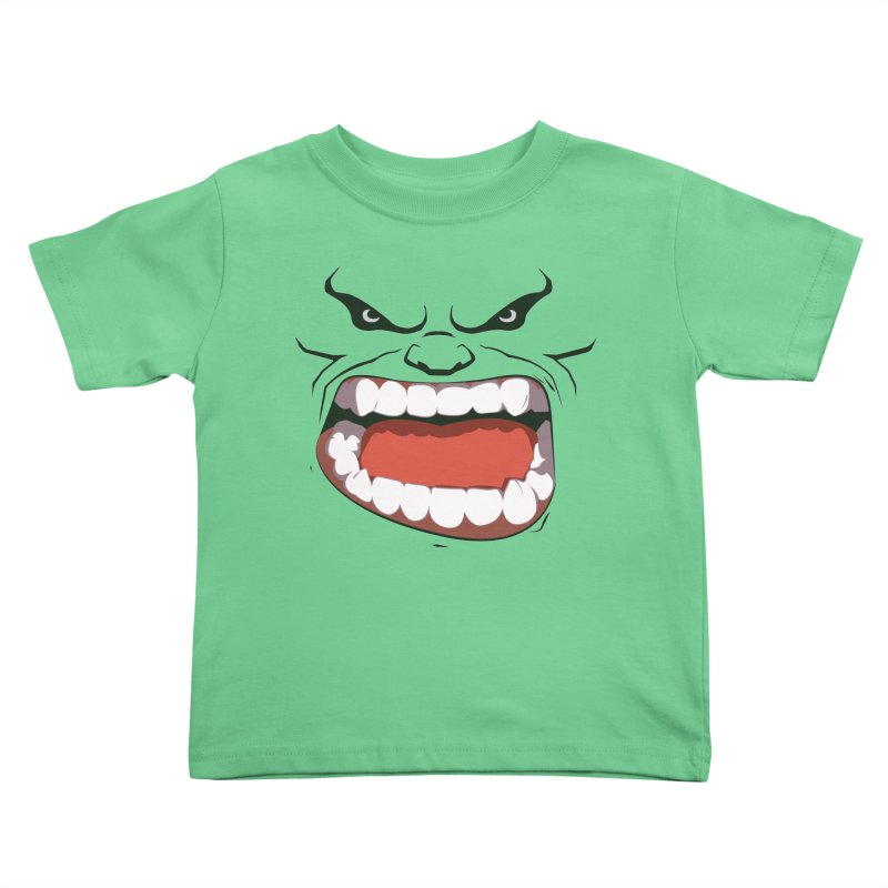 Green and angry Kids Toddler T-Shirt by RojoSalgado's Artist Shop