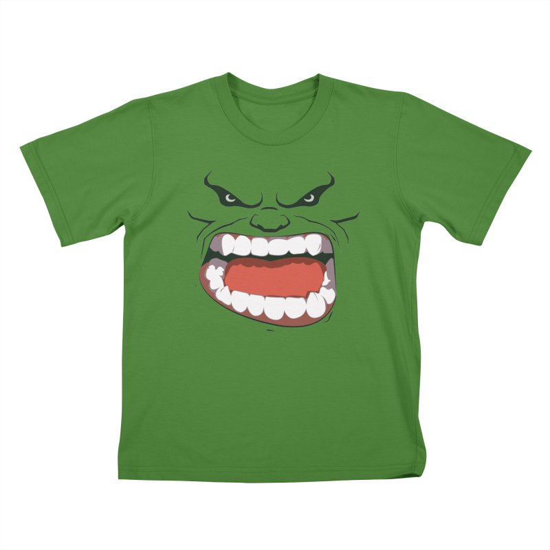Green and angry Kids T-Shirt by RojoSalgado's Artist Shop